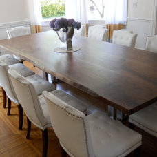 contemporary dining tables by Wood Slab Dining Tables by Jeffrey Greene