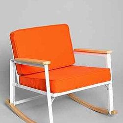 Assembly Home Metal Rocking Chair, Orange - I kind of really like this affordable orange rocker.