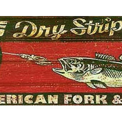 Red Horse Signs - Vintage Signs Foss Lure Retro Wood Advertisement - Create  a  one-of-a-kind  sign  for  your  fishing  lodge  or  lake  house  by  personalizing  the  name  of  the  bait  on  the  top  of  the  sign  and  the  name  of  the  company  on  the  bottom  of  the  sign.  This  vintage  looking  sign  is  actually  printed  directly  to  distressed  wood  for  a  worn  weathered  appearance.  Measuring  9  x  32  it  is  sure  to  create  a  stir  at  your  favorite  fishing  hole!