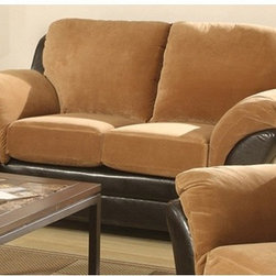 AC Pacific Furniture - Mia 2 Piece Padded Suede/Polyurethane Set - JYQ1091 - Set includes: One sofa sleeper and one loveseat