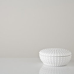 Unglazed White Uni Container - I absolutely love the texture and shape of this container. It would be the perfect place to hide away treasures!