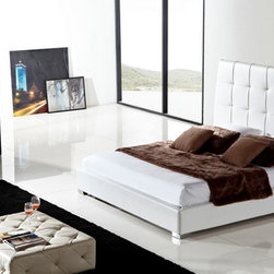 Casabianca Sorrento King Platform Bed - *Available in White Leather in King size