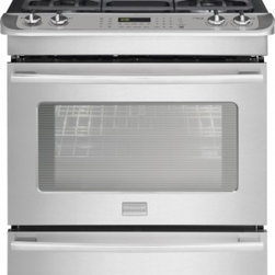 Frigidaire - FPDS3085PF Slide-In Dual Fuel Convection Range with 4.5 cu. ft. Oven Capacity  T - The FPDS3085PF Dual Fuel Convection Range from Frigidaire will be the perfect addition to your kitchen It has all the best features like true convection system sealed burners continuous cast iron grates45 cu ft oven andwarming drawer with 3 temperatu...