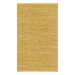 "Loloi Rugs - Loloi Rugs Porto Collection - Yellow, 1'-8"" x 3' - Casual yet sophisticated pops of color combined with natural jute are entwined into a grid-like pattern in Porto. These handwoven rugs from India are infused with cotton for softness underfoot.  The clean yet intricate pattern will add just the right layers of texture and pattern without competing with the rest of your room's interior."