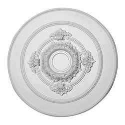 Renovators Supply - Ceiling Medallions White Urethane Ceiling Medallion 17'' Dia - Ceiling Medallions: Made of virtually indestructible  high-density  urethane our medallions are cast from  steel molds  making them the highest quality on the market. Steel molds provide a higher quality result for  pattern consistency, design clarity & overall strength & durability.  Lightweight they are  easily installed  with no special skills. Unlike plaster or wood urethane is resistant to  cracking, warping or peeling.   Factory-primed  these medallions are ready for finishing.