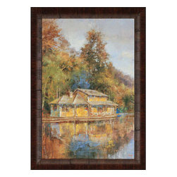 Paragon - Lake House - Framed Art - Each product is custom made upon order so there might be small variations from the picture displayed. No two pieces are exactly alike.