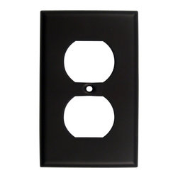 Rusticware - 783Single Recep Switchplate - Oil Rubbed Bronze - This Oil Rubbed Bronze switch plate is a stylish piece of hardware that will add to the decor of any room in your home.