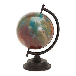 """Imax - Abstract Color Marsil Decorative Globe - *Dimensions: 16.25""""h x 10""""w x 11.25"""""""