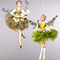 Katherine's Collection Magnolia Fairy Ornaments - These fairy ornaments are not just for Christmas. Hang them up in a child's room for a whimsical touch.