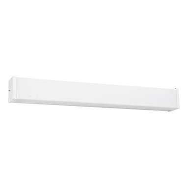 Seagull - Seagull Fluorescent Energy Star fixtures Bathroom Lighting Fixture in White - Shown in picture: 49026LE-15 Two Light Multi-volt Square Fluorescent Strip in White Finish in White finish; Energystar Compliant; Energystar Compliant