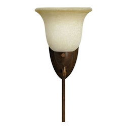 None - Golden Bronze Plug-in Corner Lamp - Light up dark areas in your home with this bronze corner lamp. The sconce can be mounted on any wall, and it plugs in so you don't have to worry about wiring. It has an antiqued bronze finish to add a classic touch to your home's decor.