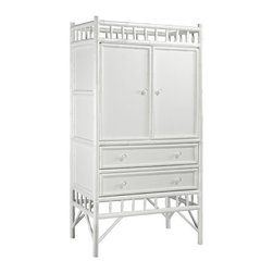 Julia Armoire - I can imagine this simple armoire anywhere in a house. It can be used to hide your TV, or you can put it at the end of a hallway or at the entrance. It has so many options.