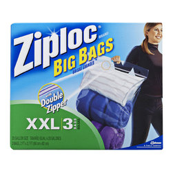 None - Ziploc XXLarge Big Bags with Double Zipper (Pack of 8 Boxes) - Organize,protect,and transport - anything,anywhere - Ziploc Big Bags are the biggest,strongest,most versatile bags every created. Use them to store clothing,bedding,holiday decorations,sports equipment,and more.