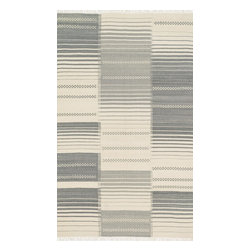 """Loloi Rugs - Loloi Rugs Rio Collection - Grey, 3'-6"""" x 5'-6"""" - Looking for a rug that combines the best of both style and durability? Then consider a Rio. Hand woven in India of 100% New Zealand wool, we have re-imagined typical flat weaves by way of contemporary design. Each Rio also features nuanced variations in color throughout the rug for added beauty. Best of all, these rugs are durable, reversible, and crafted to withstand plenty of foot traffic."""