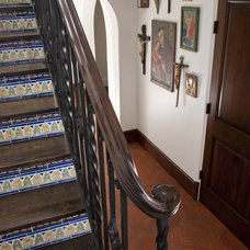 Mediterranean Staircase by Astleford Interiors, Inc.