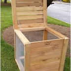 Farmer D Organics - Farmer D Organics Cedar Compost Bin Multicolor - CEDCOMP-30 - Shop for Garden Equipment from Hayneedle.com! The handsome Farmer D Organics Cedar Compost Bin overrules all objectionable aspects of composting. Untreated sustainably grown Western Red Cedar naturally resists damage from rot and bugs. Removable cedar panels in the front allow easy access for turning your pile. The sides are made of heavy duty wire mesh to allow proper oxygenation while the bottom is open for maximum contact with soil. Varmints stay out thanks to the hinged lid with a hook-and-eye closure. This bin arrives fully assembled and no painting or staining is required. Cedar will naturally mellow over time to a grey hue. Handmade in Atlanta GA by a company that adheres to socially responsible and environmentally friendly business practices. About Farmer D OrganicsEnvironmentally friendly and socially conscious Farmer D Organics is in the business of creating farms and products for the earth and its people. Their product line is based on creating the highest quality organic soil and plant foods for growing the most nutritious and delicious food and medicines. These products are geared toward everyone from the backyard gardener to the large-scale organic farmer. One of their most popular products the Farmer D Organics Signature Biodynamic Blend Organic Compost is a Demeter certified biodynamic compost derived from the organic spoils from Whole Foods Market. This key ingredient not only creates a superior product but also a fantastic sustainable closed-loop model. Farmer D products are hand made in the USA using Wester Red Cedar that's FSC-certified. Farmer D Organics strives to empower people to grow healthy foods and sustainable communities by applying biodynamic principles to agriculture and urban gardens.