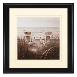 Paragon - Beach Chairs - Framed Art - Each product is custom made upon order so there might be small variations from the picture displayed. No two pieces are exactly alike.
