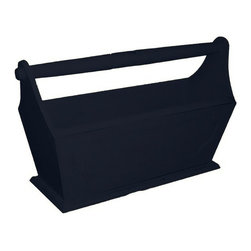 EuroLux Home - New Magazine Rack Black Painted Hardwood - Product Details