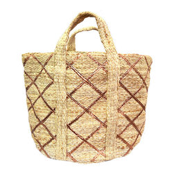 BrandWave - The Amazon, Basket, Natural with Copper - Hand loomed from all natural materials; the Amazon collection is sturdy and durable. Be comforted that your unique basket is a one-of-a-kind piece. These baskets are perfect for storing a variety of items all throughout your home.