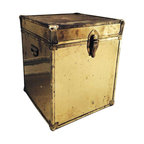 1970s Vintage Brass Trunk - $600 Est. Retail - $350 on Chairish.com -