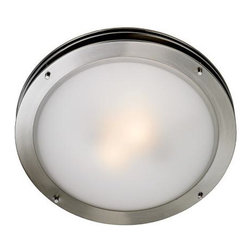 Wide Ceiling Light Fixture - I love the clean and simple lines on this flush mount fixture. It would make a great addition to any room.