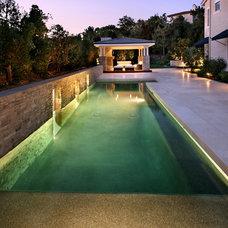Contemporary Exterior by AMS Landscape Design Studios, Inc.