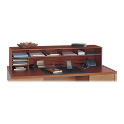 """Safco - Safco 58""""W Low Profile Desk Top Organizer - Safco - Desktop Organizers - 3671CY - On-top organizing! This desktop organizer adds storage space without obstructing your view."""