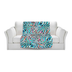 DiaNoche Designs - Throw Blanket Fleece - Blue and Pink Movement - Original Artwork printed to an ultra soft fleece Blanket for a unique look and feel of your living room couch or bedroom space.  DiaNoche Designs uses images from artists all over the world to create Illuminated art, Canvas Art, Sheets, Pillows, Duvets, Blankets and many other items that you can print to.  Every purchase supports an artist!