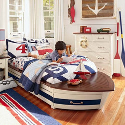 Speedboat II Bedroom Set - Inspired by the classic luxury crafts of the 1940s, this bed is crafted to seaworthy standards.