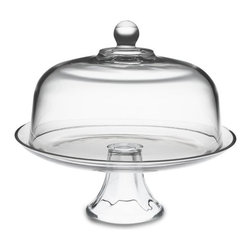 Glass Domed Cake Plate/Punch Bowl - It's a domed cake stand, no it's a punch bowl — it's both! This piece is so smart and so multitasking.