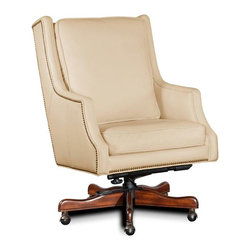 Hooker Furniture - Hooker Furniture Executive Swivel Tilt Chair EC374-081 - Developed by one of America's premier manufacturers to offer quality furniture at affordable prices. Each piece is meticulously hand-crafted using the most exquisite leathers in the world. The Surreal Leiris Cream Executive Swivel Tilt Chair is crafted using Surreal Leiris leather.