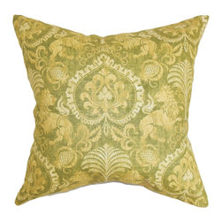 "The Pillow Collection - Giancinta Floral Pillow Verde 18"" x 18"" - This decor pillow will spruce up your space with its nature-inspired style. Ideal for your living room, bedroom or guestroom, this accent pillow brings a refreshing vibe with its leaf and floral pattern. A rich blend of green and yellow hues meld together to bring out the gorgeous floral pattern. This throw pillow is 100% made from cotton to ensure comfort . Hidden zipper closure for easy cover removal.  Knife edge finish on all four sides.  Reversible pillow with the same fabric on the back side.  Spot cleaning suggested."