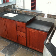 Contemporary Vanity Tops And Side Splashes by T Brothers Tile LLC