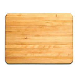 Catskill Craftsmen - Reversible Cutting Board w Solid Edge - Profe - Create your own culinary masterpieces with this Professional series cutting board. Reversible design ensures dual-sided usage, while rugged hardwood construction is completed with protective oil finish. You'll find this board a crucial component for your kitchen. Professional Cutting Board Series. Made of US Hardwood from the Catskill Mountains. Oil finish. Flat grain. Reversible. 17 in. L x 23 in. W x 1.25 in. H (11 lbs.). Made in the USARugged and dependable, these professional grade cutting boards are long-lasting and knife-friendly. One-and-a-quarter inches thick and reversible, each of these boards will feel at home in a commercial or residential setting. Made of gorgeous North American Hardwood and manufactured in the USA.
