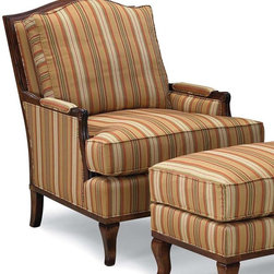 Lounge Chair w Loose Back and Seat - Beautiful stripes...oh how I love thee.  Seriously, I love striped upholstered sofas and chairs.  They always have so much personality and this chair is no exception.  Beautiful!