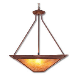 Avalanche-Ranch - Rustic Denali Chandelier - Rustic Chandeliers with Rustic Plain artwork - Takes (3) 60W Medium bulb(s)