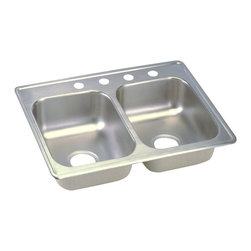 "Dayton - Elkay D225194  25"" x 19"" Dayton Sink - Elkay's D225194 is a 25"" x 19"" Dayton Sink. This sink is constructed from 22-gauge, 301 Series, nickel bearing stainless steel, and can be mounted on top of almost any surface."