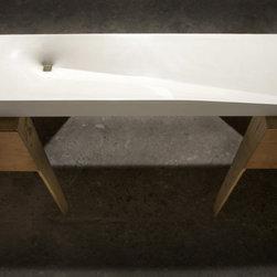 Modern White Vertigo Concrete Sink by Gore Design Co. - ©2014 Gore Design Co., LLC