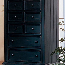 Winners Only - Cape Cod Bead Board Chest - Five drawers. Wood on wood glides. 38 in. W x 18 in. D x 52 in. H (117 lbs.)