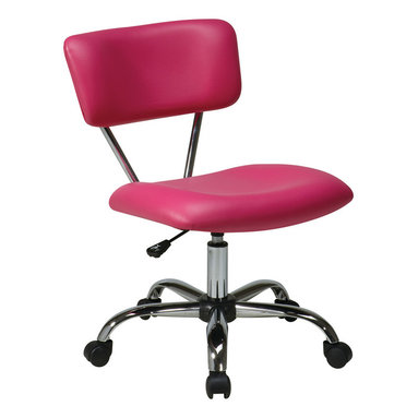 Office Star - Office Star Vista Task Office Chair In Pink Vinyl - Vista Task Office Chair In Pink Vinyl by Ave Six What's included: Office Chair (1).