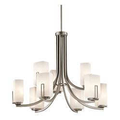 Kichler Lighting - Kichler Lighting KCH-42428AP Leeds Modern / Contemporary Chandelier - Kichler Lighting KCH-42428AP Leeds Modern / Contemporary Chandelier