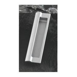 Hafele - 6.81 in. Zinc Handle (Set of 10) - Aluminum colored Matte