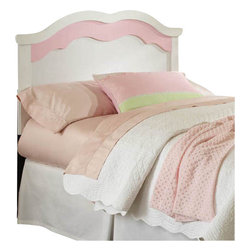 Standard Furniture - Standard Furniture Bubblegum Panel Headboard in White and Pink - Twin - Bubblegum Bedroom is adorably cute and charmingly sweet, and is lavished with lots of girlie-girl details.