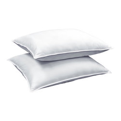 Royal Luxe - Royal Luxe 300 Thread Count Down Blend Pillow (Set of 2) - Add comfort to bedroom decor with this luxury white down blend pillow. This Egyptian cotton cover pillow features a 300 thread count and provides night after night of comfy head and neck support.