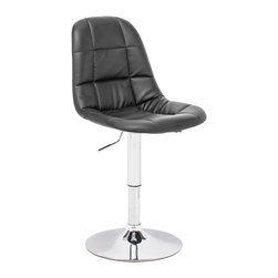 ZUO MODERN - Wrap Chair Black - This chair has a chromed steel frame with leatherette wrapped seat and back and a swivel base.