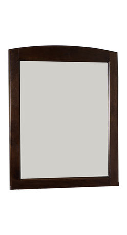 American Imaginations - 24-in. W x 32-in. H Rectangle Wood Framed Mirror Without Shelf - This traditional wood mirror belongs to the exquisite Juliet design series. It features a rectangle shape. This wood mirror is designed to be installed as an wall mount wood mirror. It is constructed with birch wood-veneer. This wood mirror comes with a lacquer-stain finish in Walnut color. Multi layer 7-step stain finish for a smooth feel while increasing the product's quality This Wood Mirror features Antique Brass hardware. No assembly required.