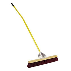 "MIDWEST RAKE COMPANY - 24"" General Purpose Broom - This General Purpose broom uses 3""-Durable polypropylene bristles, firmly attached to a high quality hardwood shoulder with our super-strong, unique gusset bracing system."