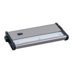 Maxim Lighting - Maxim Lighting 89922SN Countermax Mx-L120dc 2-Light Cabinet Lighting - With a sleek profile and direct wiring, this fully dimmable state-of-the-art CounterMax MX-L120DC under cabinet light, powered by choice of 3000K LED manufactured by CREE or 2700K LED manufactured by Philips Luxeon, easily installs under the cabinet with it's built-in knock outs and emits a crisp white light which illuminates without shadows. The hinged top gives easy access for installation and wiring. Cabinets stay cool and safe with LED light output. Counter Max MX-L120DC is linkable without or with cords using MXInterLink4 accessories.