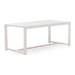 ZUO VIVA - Golden Beach Coffee Table Gray - The Golden Beach coffee table, though minimalistic, is the perfect table to gather a group of friends for drinks and catching up. The frame is 100% aluminum and the glass is frosted, tempered glass.