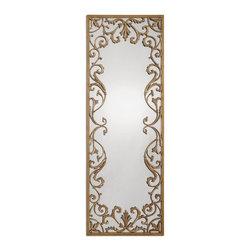 Uttermost - Antique Gold Leaf Apricena Mirror - Antique Gold Leaf Apricena Mirror